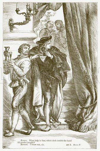Romeo and Juliet. Illustration for The Plays of William Shakespeare edited by Charles and Mary Cowden Clarke (Cassell, c 1890).