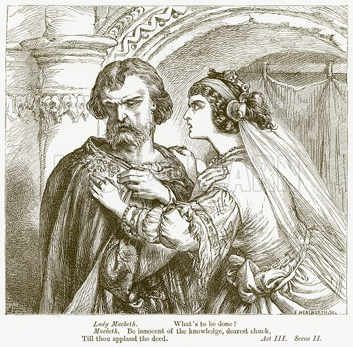 Macbeth. Illustration for The Plays of William Shakespeare edited by Charles and Mary Cowden Clarke (Cassell, c 1890).