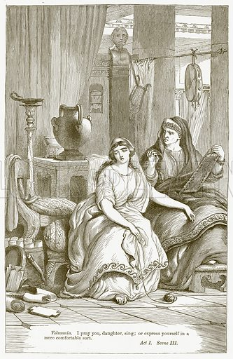 Coriolanus. Illustration for The Plays of William Shakespeare edited by Charles and Mary Cowden Clarke (Cassell, c 1890).