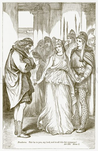 Troilus and Cressida. Illustration for The Plays of William Shakespeare edited by Charles and Mary Cowden Clarke (Cassell, c 1890).