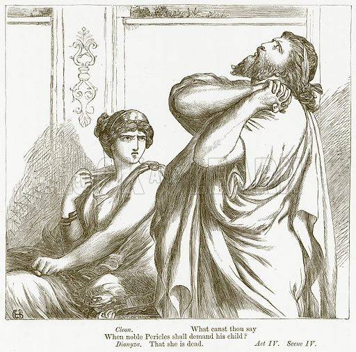 Pericles. Illustration for The Plays of William Shakespeare edited by Charles and Mary Cowden Clarke (Cassell, c 1890).
