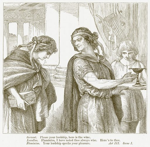 Timon of Athens. Illustration for The Plays of William Shakespeare edited by Charles and Mary Cowden Clarke (Cassell, c 1890).