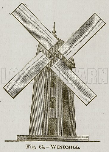 Windmill. Illustration for Cassell's Book of Sports and Pastimes (Cassell, c 1890).