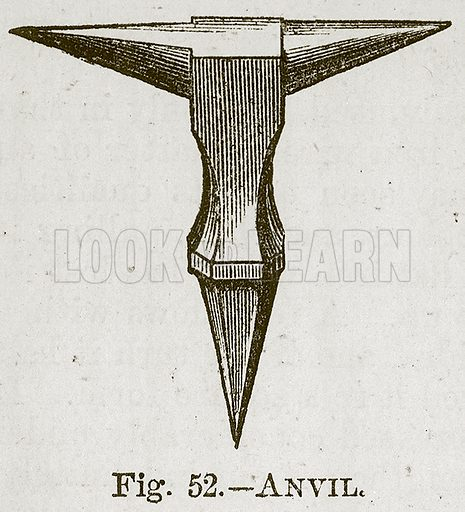 Anvil. Illustration for Cassell's Book of Sports and Pastimes (Cassell, c 1890).