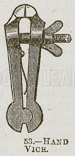 Hand Vice. Illustration for Cassell's Book of Sports and Pastimes (Cassell, c 1890).
