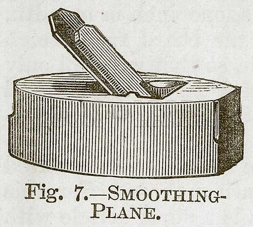 Smoothing-Plane. Illustration for Cassell's Book of Sports and Pastimes (Cassell, c 1890).