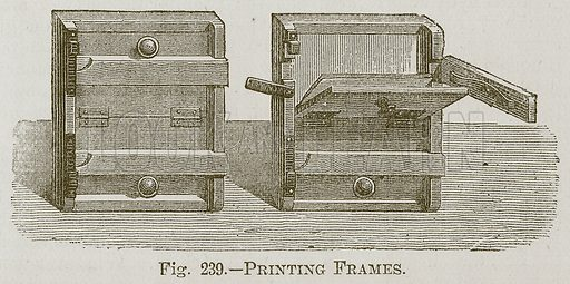 Printing Frames. Illustration for Cassell's Book of Sports and Pastimes (Cassell, c 1890).