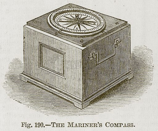 The Mariner's Compass. Illustration for Cassell's Book of Sports and Pastimes (Cassell, c 1890).