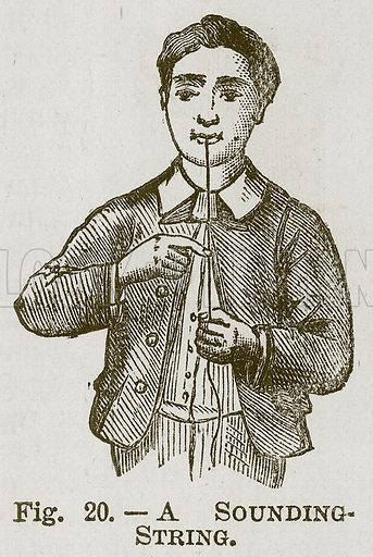 A Sounding-String. Illustration for Cassell's Book of Sports and Pastimes (Cassell, c 1890).