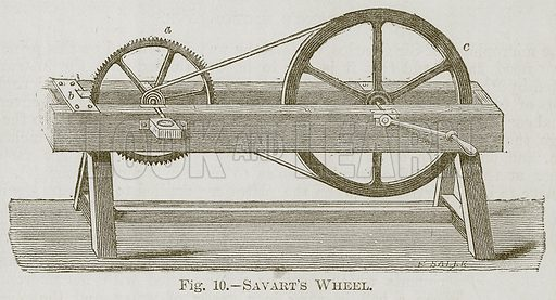 Savart's Wheel. Illustration for Cassell's Book of Sports and Pastimes (Cassell, c 1890).
