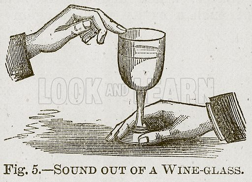 Sound out of a Wine-Glass. Illustration for Cassell's Book of Sports and Pastimes (Cassell, c 1890).