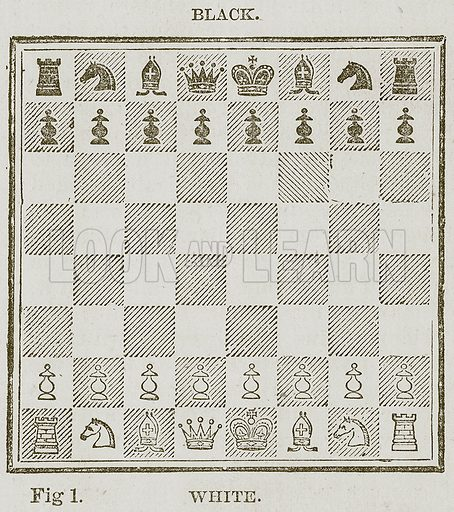 Chess. Illustration for Cassell's Book of Sports and Pastimes (Cassell, c 1890).