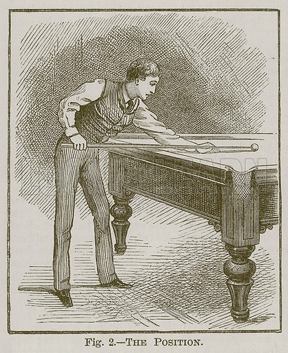 The Position. Illustration for Cassell's Book of Sports and Pastimes (Cassell, c 1890).
