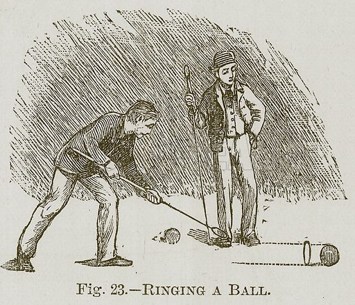 Ringing a Ball. Illustration for Cassell's Book of Sports and Pastimes (Cassell, c 1890).