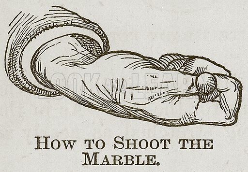 How to Shoot the Marble. Illustration for Cassell's Book of Sports and Pastimes (Cassell, c 1890).
