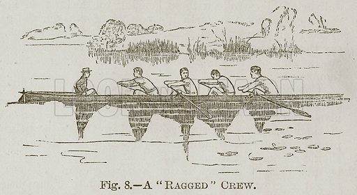 "A ""Ragged"" Crew. Illustration for Cassell's Book of Sports and Pastimes (Cassell, c 1890)."