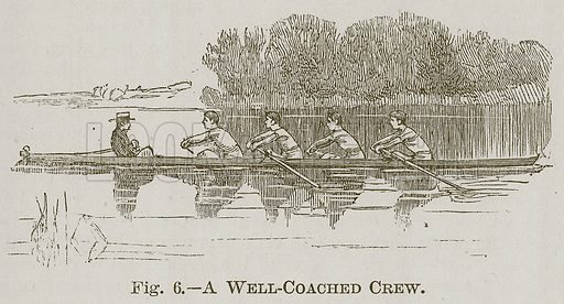 A Well-Coached Crew. Illustration for Cassell's Book of Sports and Pastimes (Cassell, c 1890).