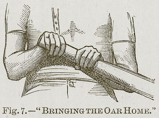 """Bringing the Oar Home."" Illustration for Cassell's Book of Sports and Pastimes (Cassell, c 1890)."