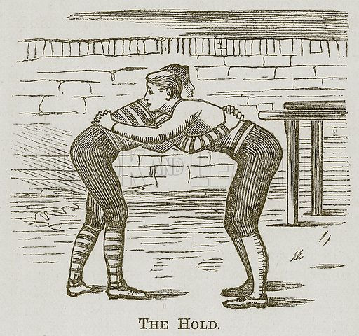 The Hold. Illustration for Cassell's Book of Sports and Pastimes (Cassell, c 1890).