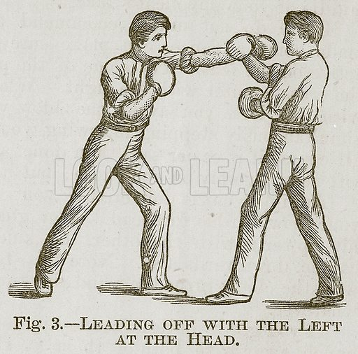 Leading Off with the Left at the Head. Illustration for Cassell's Book of Sports and Pastimes (Cassell, c 1890).