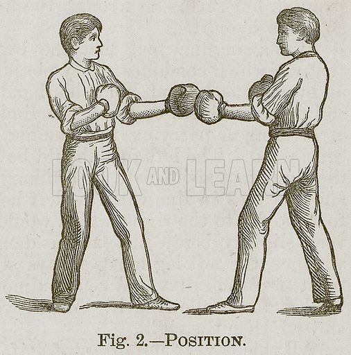 Position. Illustration for Cassell's Book of Sports and Pastimes (Cassell, c 1890).