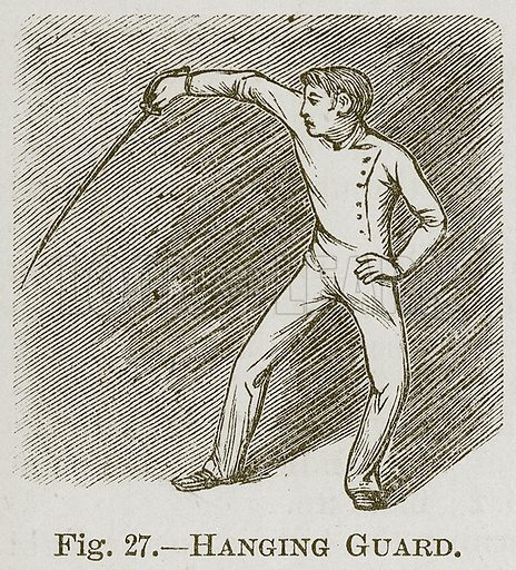 Hanging Guard. Illustration for Cassell's Book of Sports and Pastimes (Cassell, c 1890).