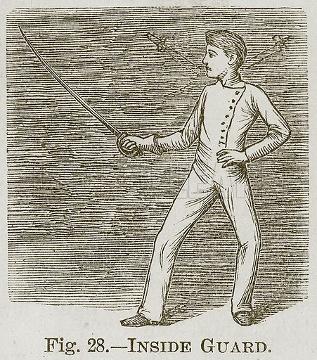 Inside Guard. Illustration for Cassell's Book of Sports and Pastimes (Cassell, c 1890).