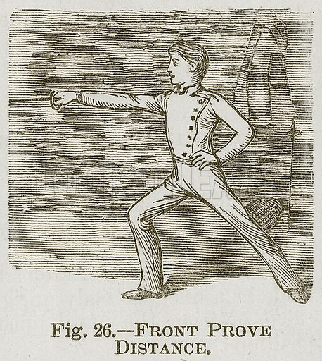 Front Prove Distance. Illustration for Cassell's Book of Sports and Pastimes (Cassell, c 1890).