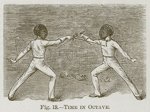 Time in Octave. Illustration for Cassell's Book of Sports and Pastimes (Cassell, c 1890).