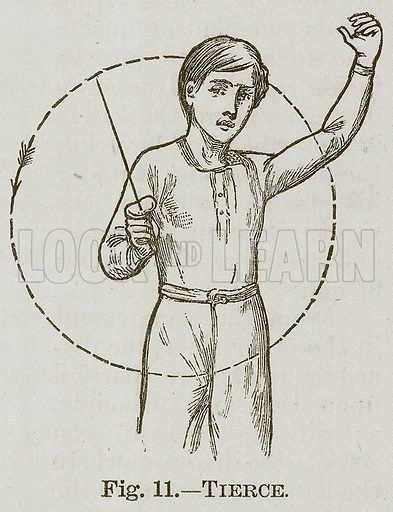 Tierce. Illustration for Cassell's Book of Sports and Pastimes (Cassell, c 1890).