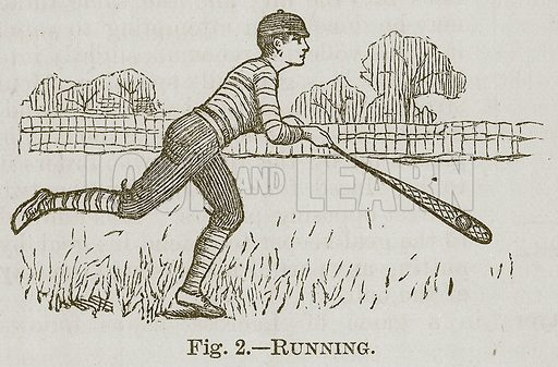Running. Illustration for Cassell's Book of Sports and Pastimes (Cassell, c 1890).