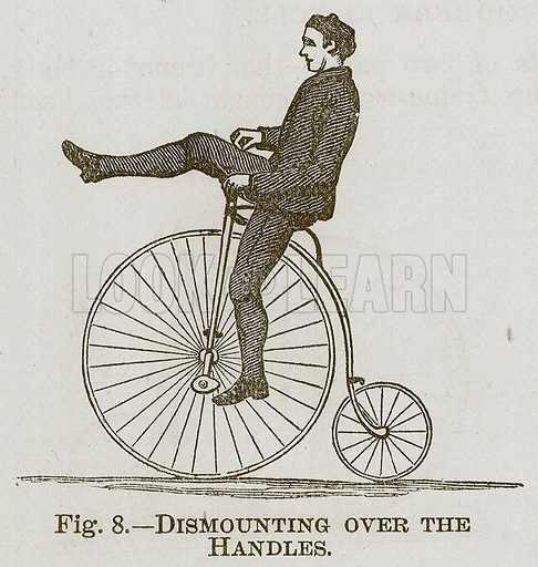 Dismounting over the Handles. Illustration for Cassell's Book of Sports and Pastimes (Cassell, c 1890).