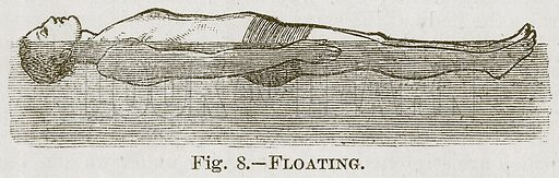 Floating. Illustration for Cassell's Book of Sports and Pastimes (Cassell, c 1890).
