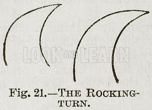The Rocking-Turn. Illustration for Cassell's Book of Sports and Pastimes (Cassell, c 1890).