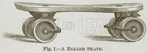 A Roller Skate. Illustration for Cassell's Book of Sports and Pastimes (Cassell, c 1890).