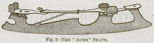 "The ""Acme"" Skate. Illustration for Cassell's Book of Sports and Pastimes (Cassell, c 1890)."