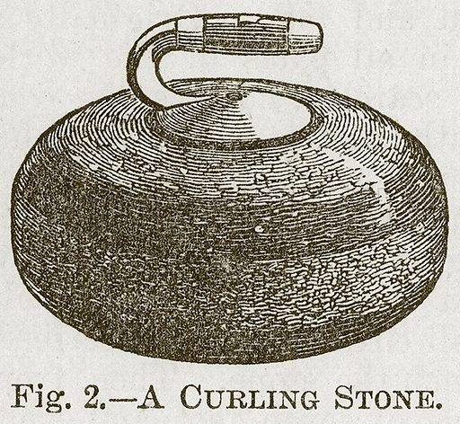 A Curling Stone. Illustration for Cassell's Book of Sports and Pastimes (Cassell, c 1890).
