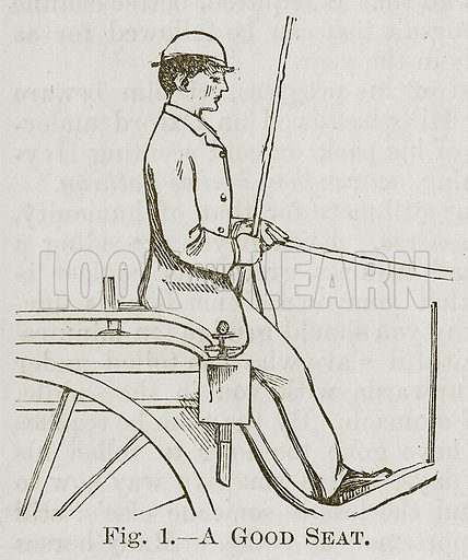 A Good Seat. Illustration for Cassell's Book of Sports and Pastimes (Cassell, c 1890).