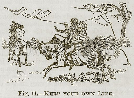 Keep your own Line. Illustration for Cassell's Book of Sports and Pastimes (Cassell, c 1890).