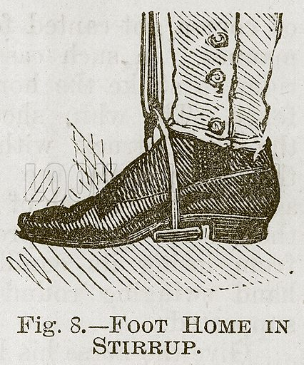 Foot Home in Stirrup. Illustration for Cassell's Book of Sports and Pastimes (Cassell, c 1890).