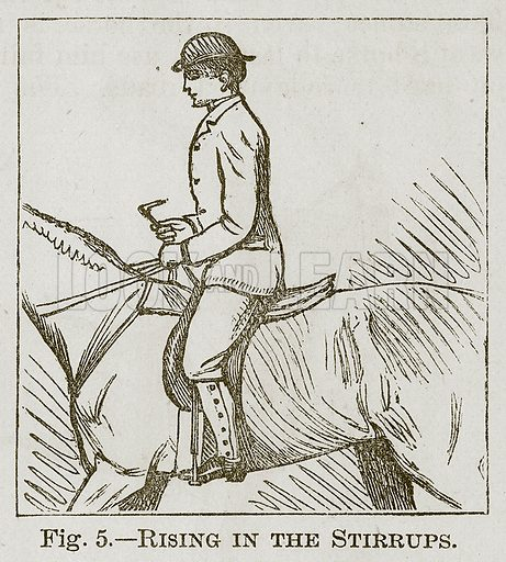 Rising in the Stirrups. Illustration for Cassell's Book of Sports and Pastimes (Cassell, c 1890).