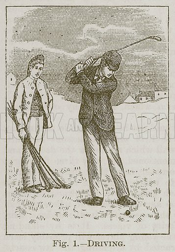 Driving. Illustration for Cassell's Book of Sports and Pastimes (Cassell, c 1890).