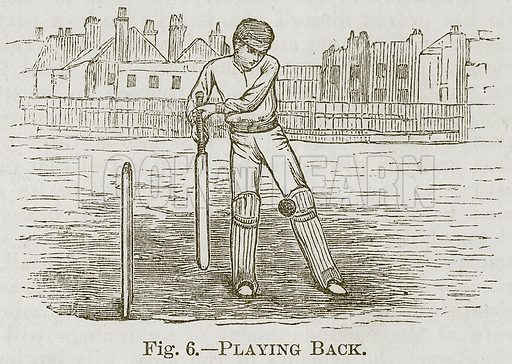 Playing Back. Illustration for Cassell's Book of Sports and Pastimes (Cassell, c 1890).