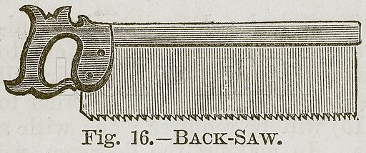 Back-Saw. Illustration for Cassell's Book of Sports and Pastimes (Cassell, c 1890).