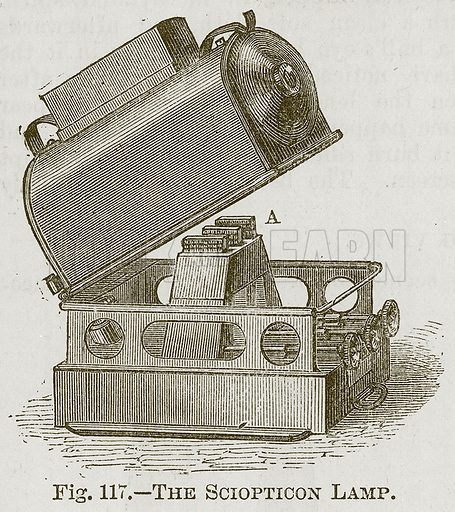 The Sciopticon Lamp. Illustration for Cassell's Book of Sports and Pastimes (Cassell, c 1890).