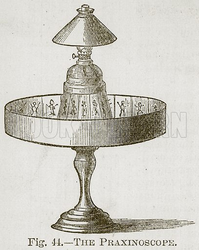 The Praxinoscope. Illustration for Cassell's Book of Sports and Pastimes (Cassell, c 1890).