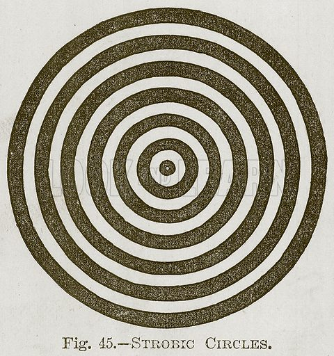 Strobic Circles. Illustration for Cassell's Book of Sports and Pastimes (Cassell, c 1890).