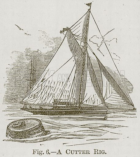 Cutter Rig. Illustration for Cassell's Book of Sports and Pastimes (Cassell, c 1890).