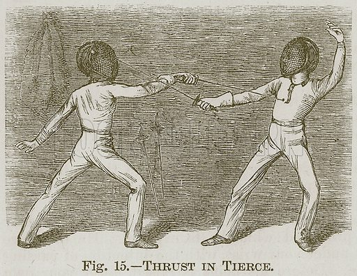 Thrust in Tierce. Illustration for Cassell's Book of Sports and Pastimes (Cassell, c 1890).