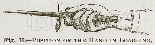 Position of the Hand in Longeing. Illustration for Cassell's Book of Sports and Pastimes (Cassell, c 1890).